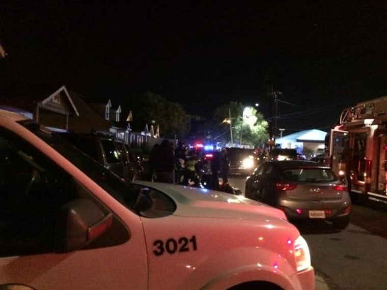 IMAGE: Police at scene of New Orleans shootings