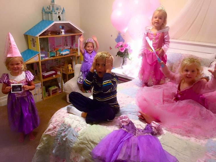 When they learned they were expecting another girl, Andrew and Laura Last came up with this gender announcement idea, which shows their son, Matthew, 6, reacting to the news that another little princess is on the way.