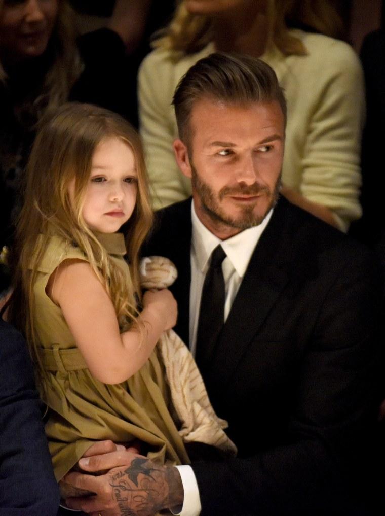 David Beckham and his daughter, Harper