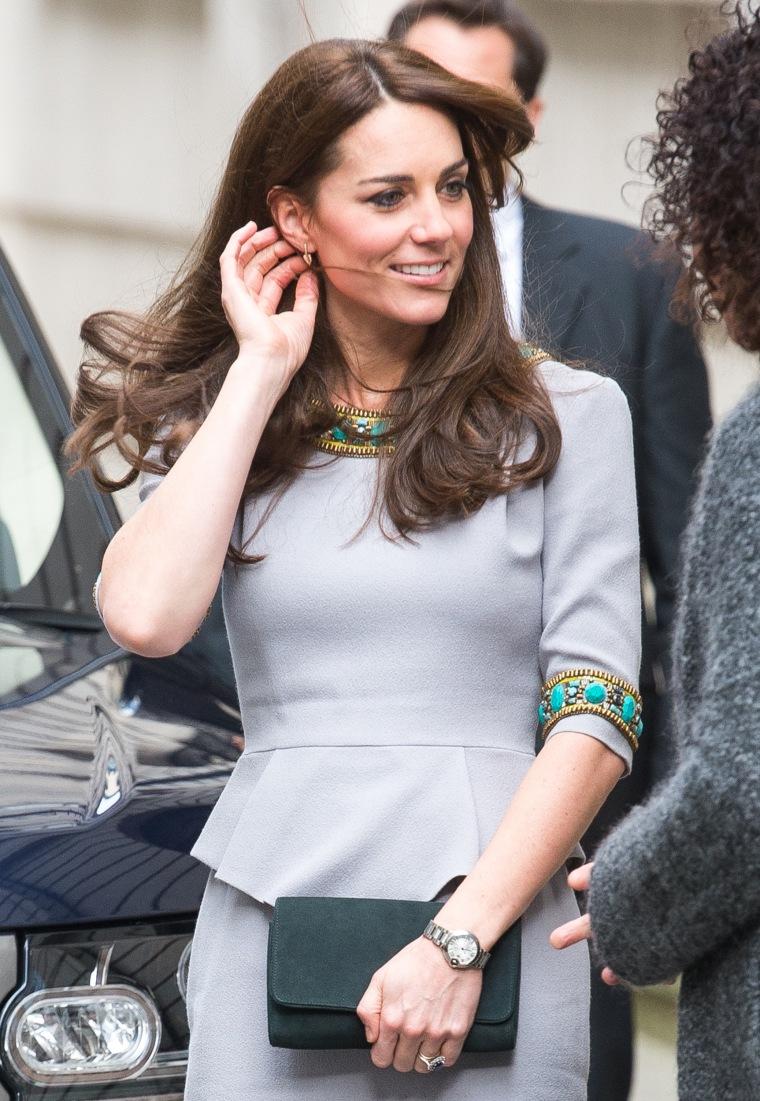 Kate, Duchess of Cambridge, arrives for speech