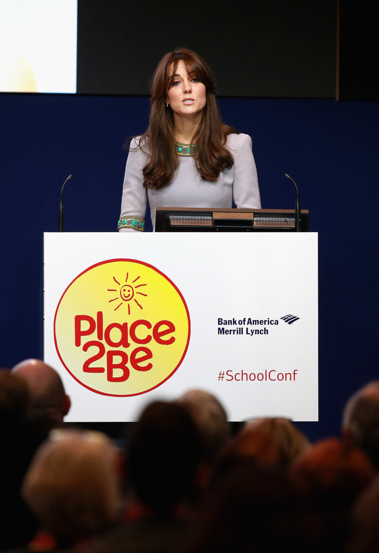 Duchess of Cambridge gives a speech at the Place2Be Headteacher Conference