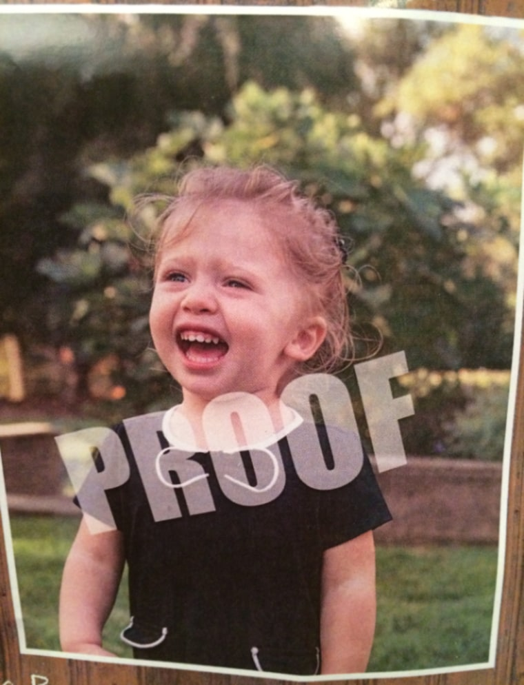 This official school photo proof shows a toddler named Aliza mid-meltdown.