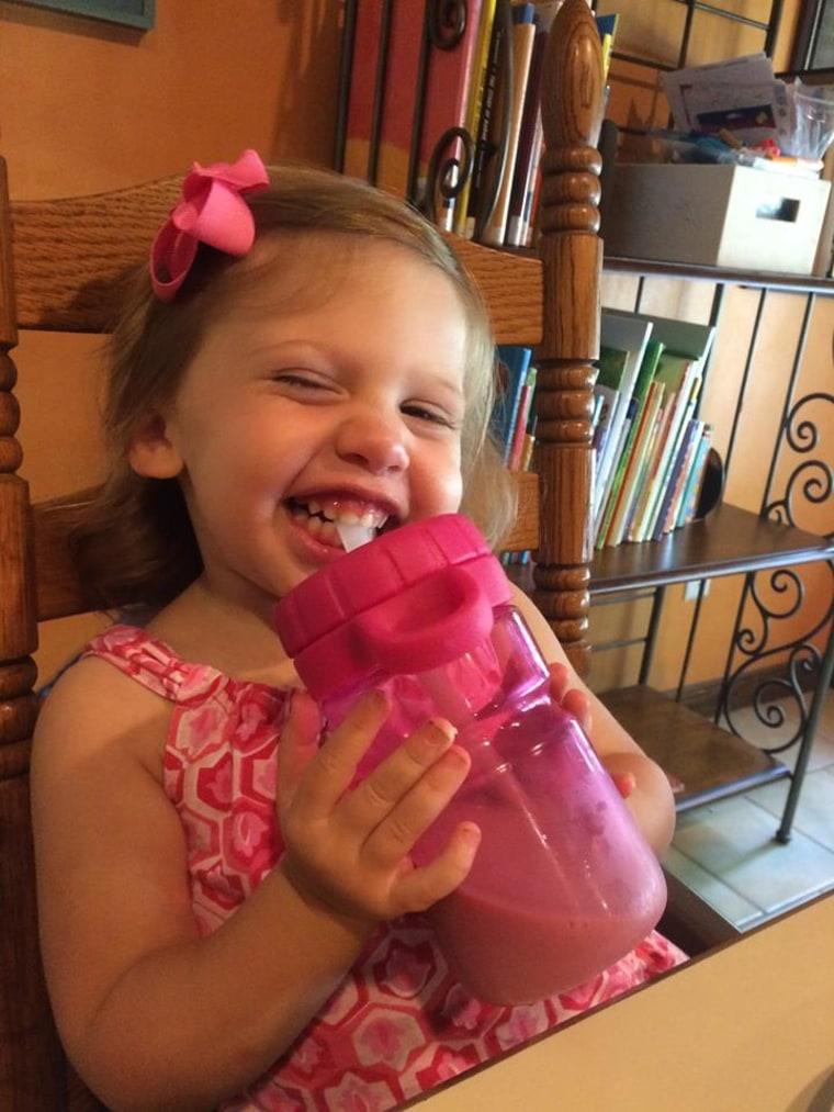 Aliza the toddler laughs hard