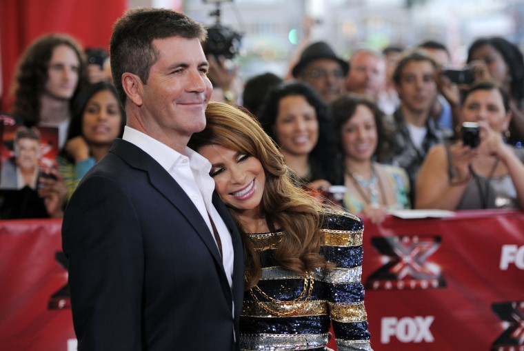 Original judges Simon Cowell and Paula Abdul remain pals.