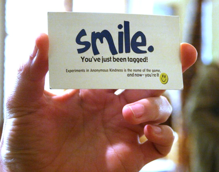 """Kindspring.org has created """"smile cards"""" to help foster small acts of kindness around the world."""