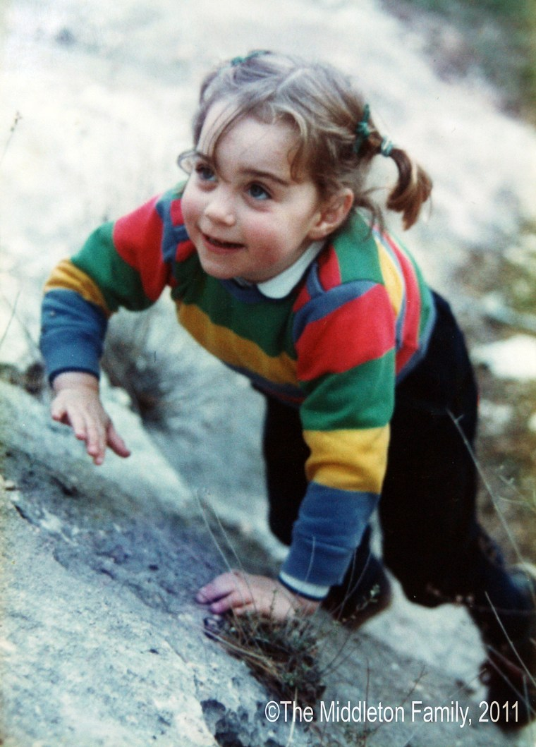 The Duchess of Cambridge, as 3-year-old Kate Middleton