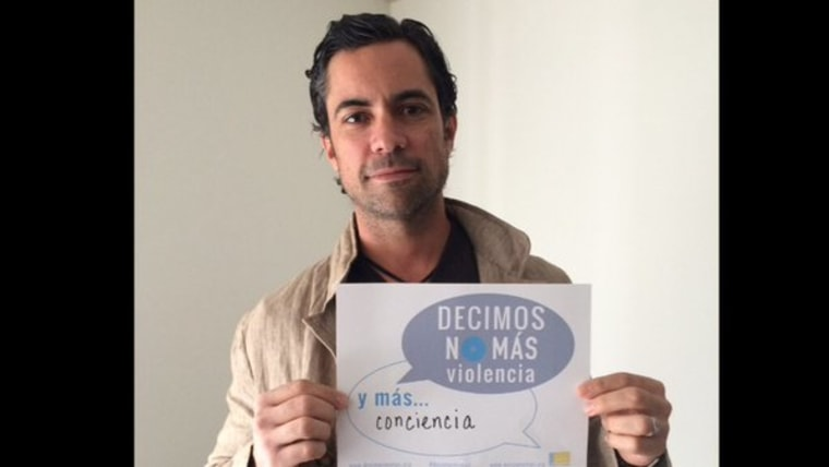 """Actor Danny Pino took to Twitter to spread the word about the """"No Más"""" campaign to combat domestic violence."""