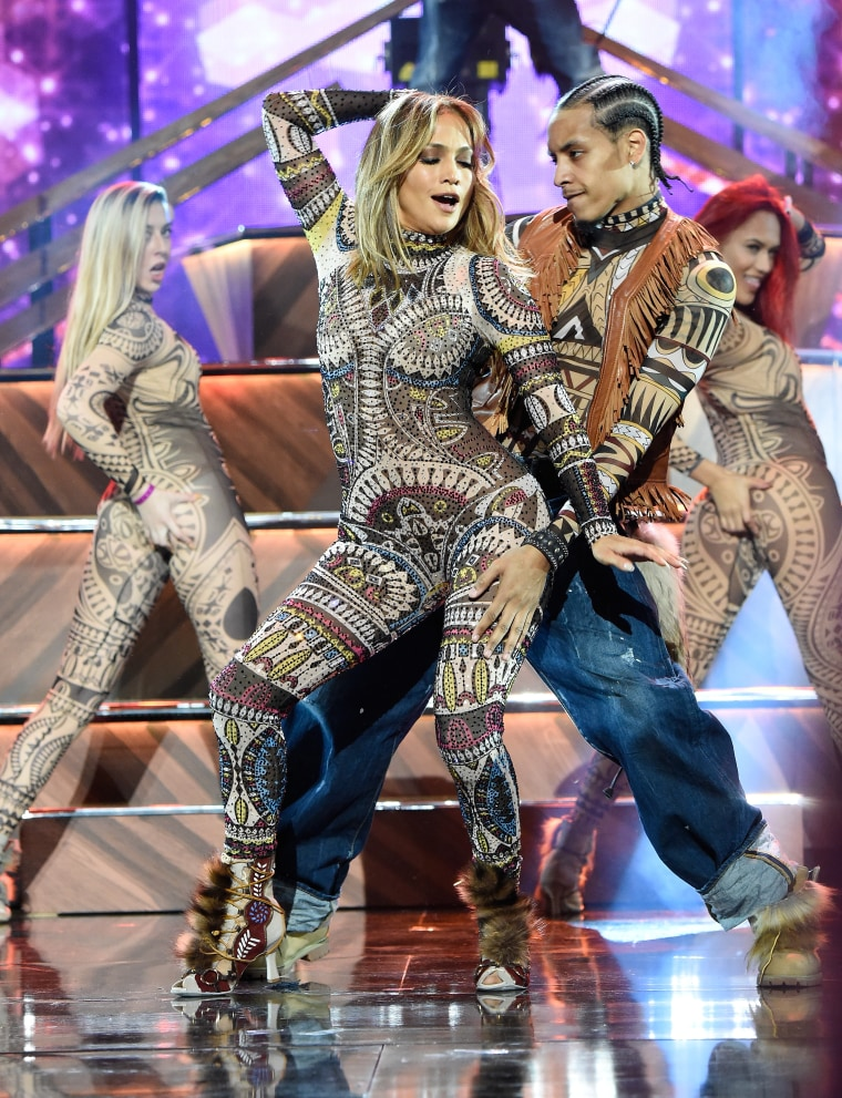 Jennifer Lopez performs onstage during the 2015 American Music Awards at Microsoft Theater on November 22, 2015 in Los Angeles, California.