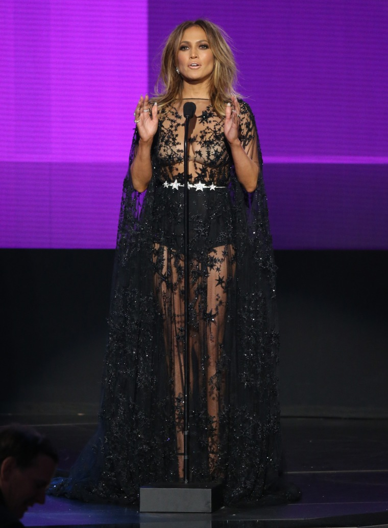 Jennifer Lopez speaks onstage at the 2015 American Music Awards at Microsoft Theater on November 22, 2015 in Los Angeles, California.