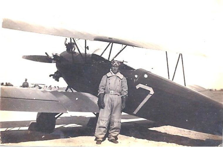 Frances Kai-Hwa Wang's maternal grandfather as a young pilot about to take his first solo flight in China, 1934. He left home at 19 to join the military because his parents could not afford his higher education, and he later became a Flying Tiger, a four star general, and second in command of the ROC Air Force.