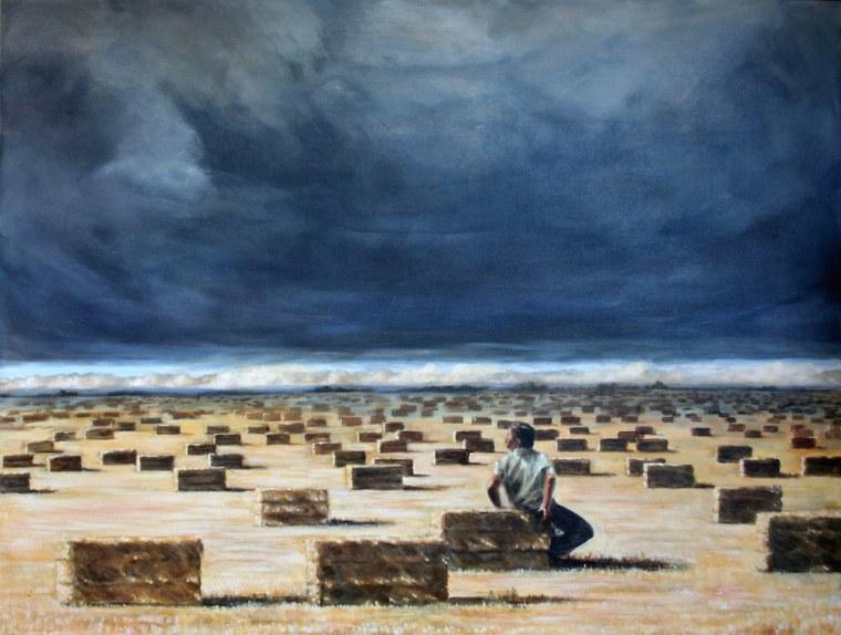 """La Inmensidad II, 48"""" x 36"""", Acrylic on canvas, 2007 by Maceo Montoya."""