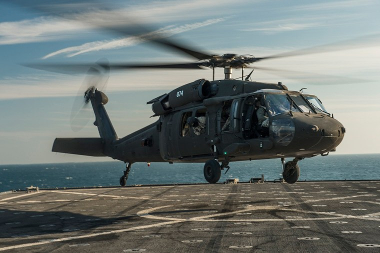 Image: A U.S. Army UH-60 Blackhawk helicopter