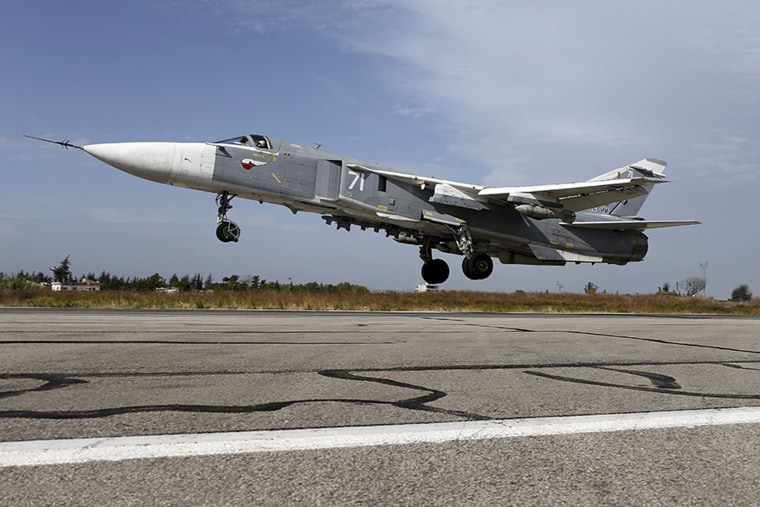 Image: A Sukhoi Su-24 fighter jet