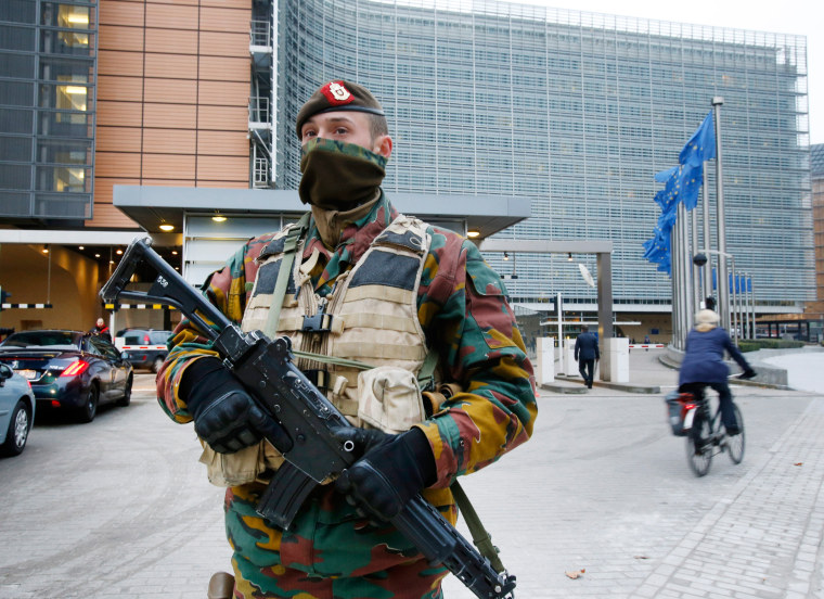 Image: Security at European Commission building in Brussels