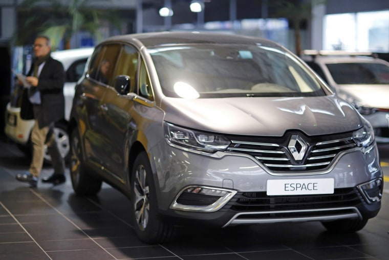 Image: A Renault Espace car is pictured at a dealership in Les Sorinieres near Nantes