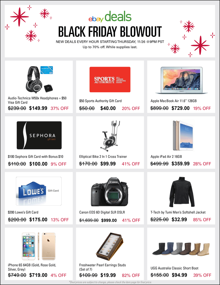 eBay will be offering deals for both Cyber Monday and Black Friday.