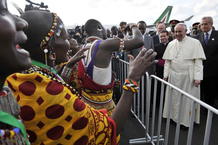 Image: Pope Francis in Nairobi