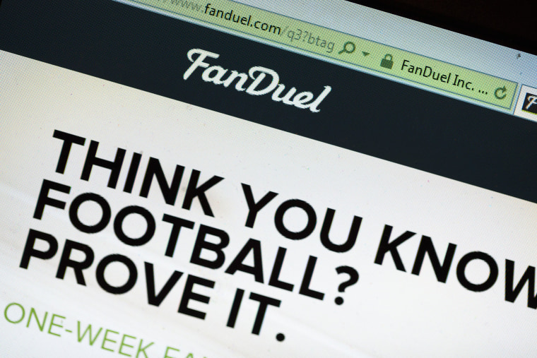Image: Online Fantasy Sports Sites, FanDuel And DraftKings, Under Scrutiny Of Government