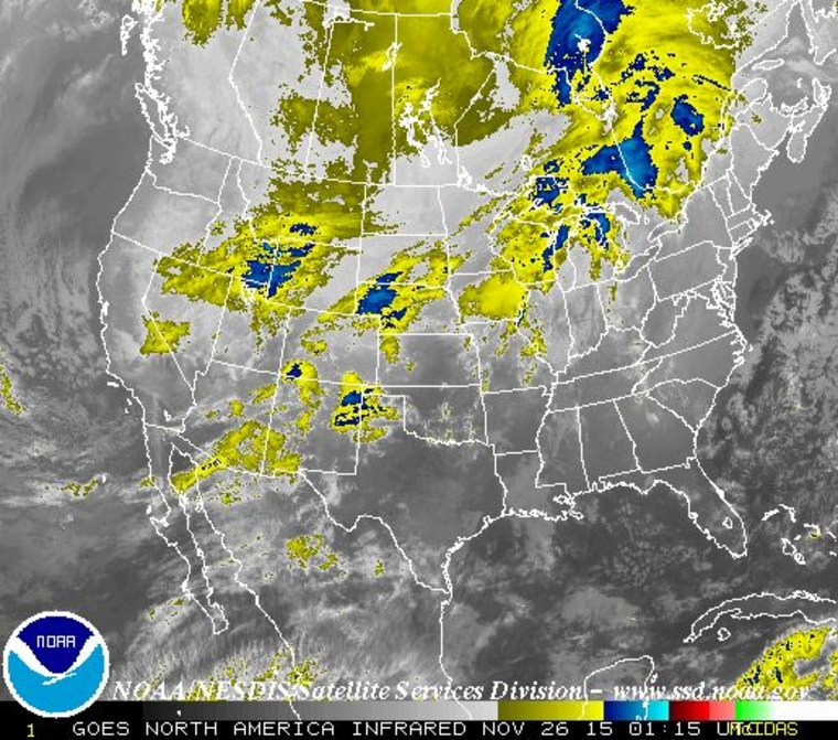 IMAGE: National weather map for Wednesday night