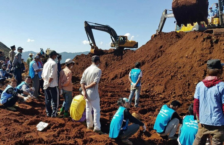 Image: MYANMAR-MINE-ACCIDENT