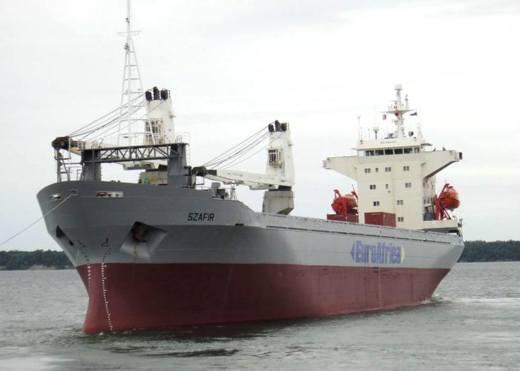 Image: Polish cargo ship Szafir hijacked on Nigerian waters