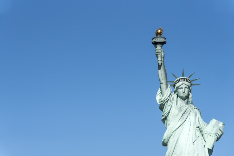 Statue of Liberty in New York City a major tourist landmark
