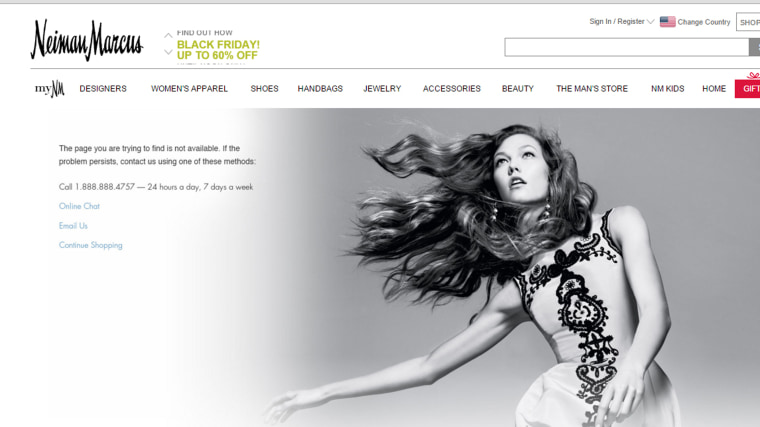 Image: neiman-marcus-website-outage