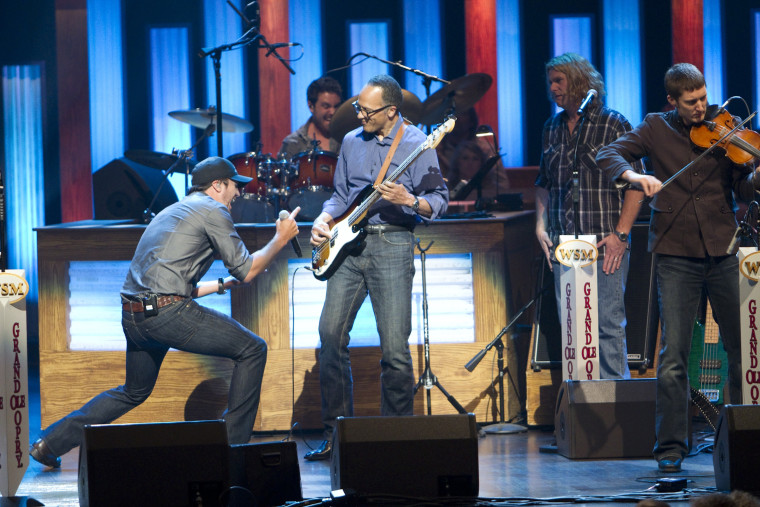 Lester Holt on stage at the Grand Ole Opry in 2011