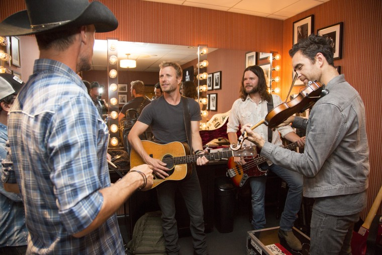 Dierks Bentley backstage at the Grand Ole Opry.