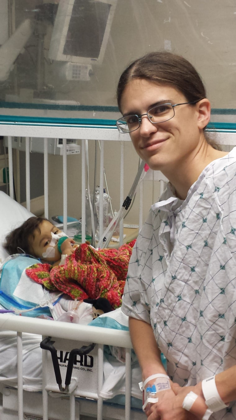 Diana Rotter with Natalia in the hospital.