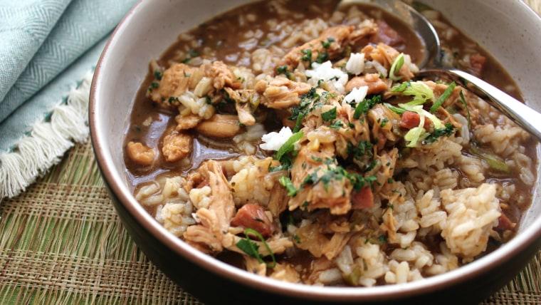 Turkey gumbo by David Slater, chef de cuisine at Emeril's