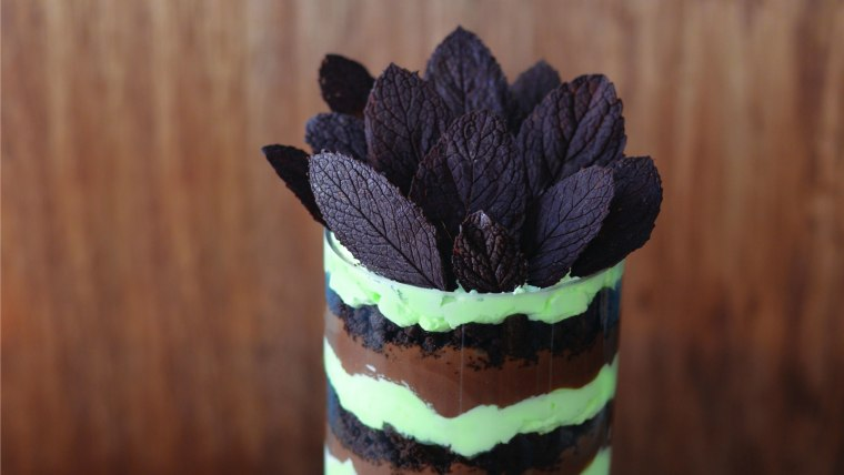 Mint Chocolate Trifle, recipe by Seton Rossini