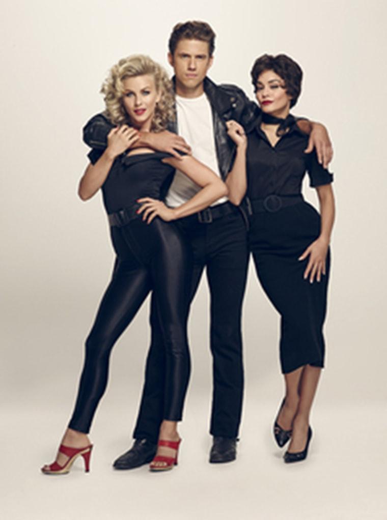 Julianne Hough, Aaron Tveit and Vanessa Hudgens in Grease: Live