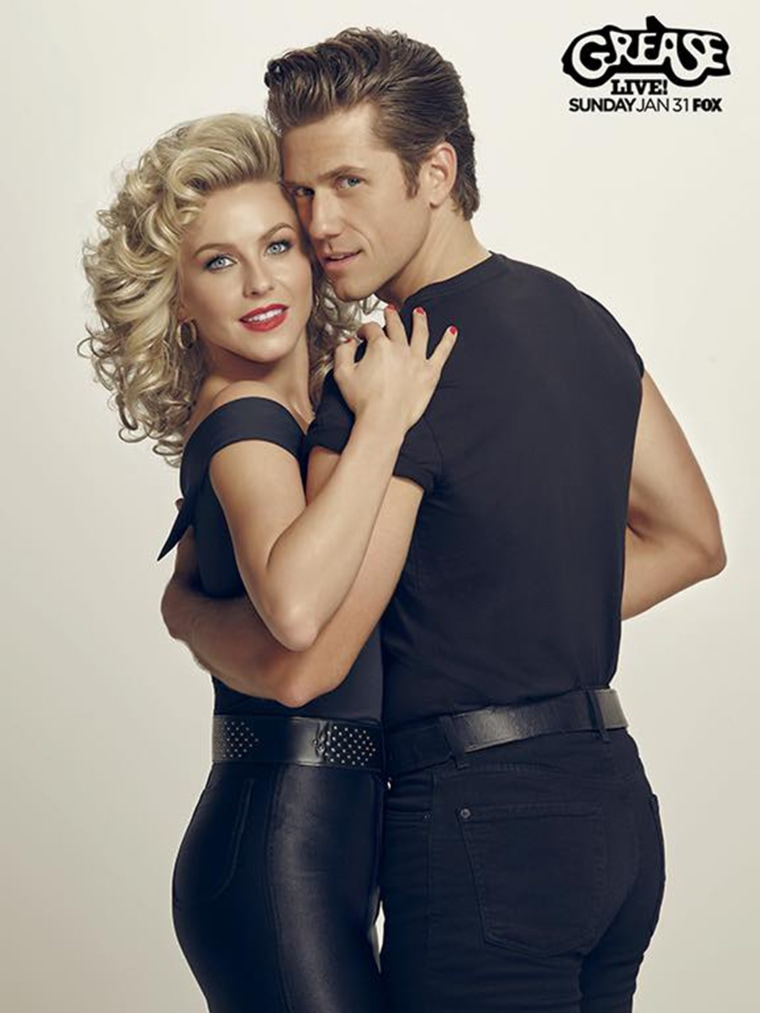 Julianne Hough and Aaron Tveit in Grease: Live