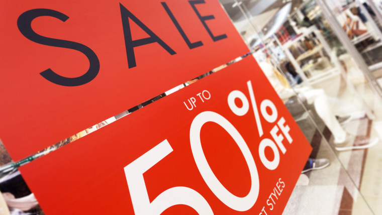 store discount sign ; Shutterstock ID 214558597; PO: TODAY.COM
