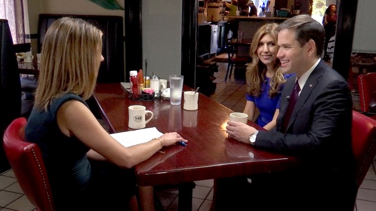 Marco Rubio and his wife speak with Natalie Morales on TODAY