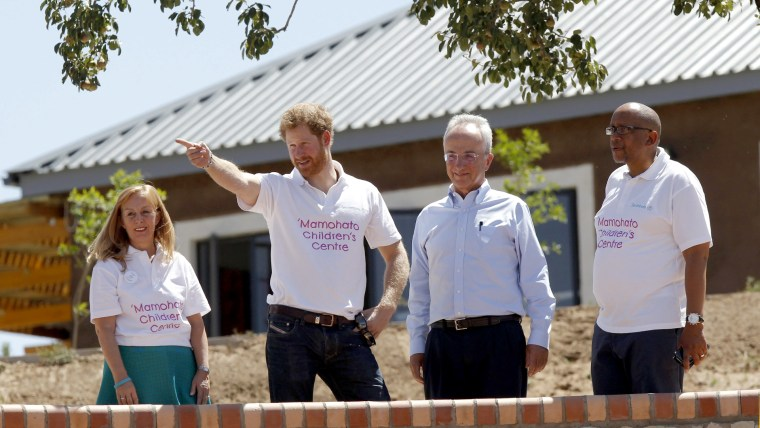 Image: Lesotho Prince Harry visit