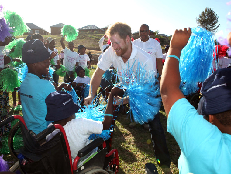 Image: Prince Harry visit to Lesotho