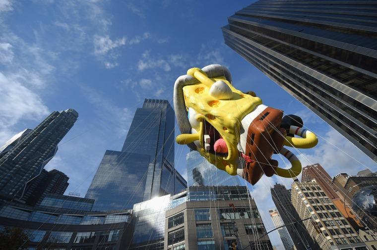 Spongebob Squarepants at the 89th Annual Macy's Thanksgiving Day Parade
