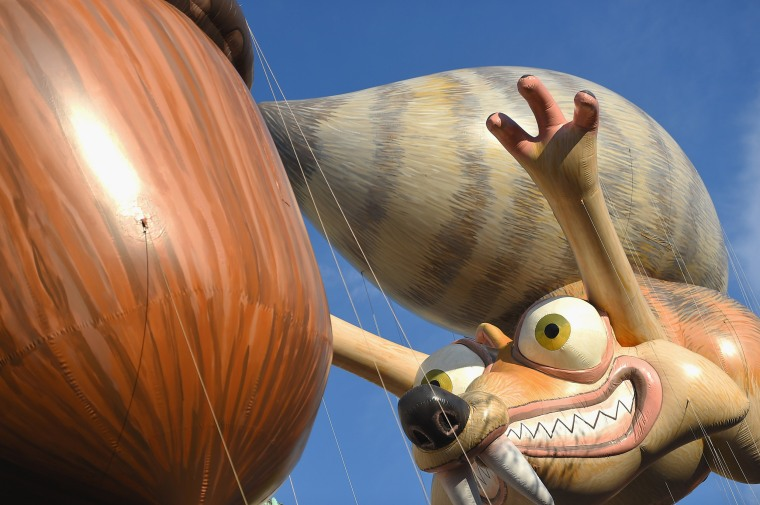 Ice Age balloon at the 89th Annual Macy's Thanksgiving Day Parade