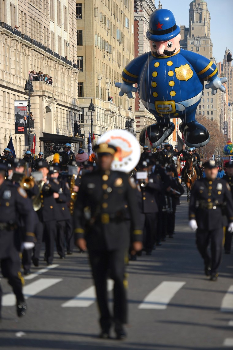 Police balloon at the 89th Annual Macy's Thanksgiving Day Parade