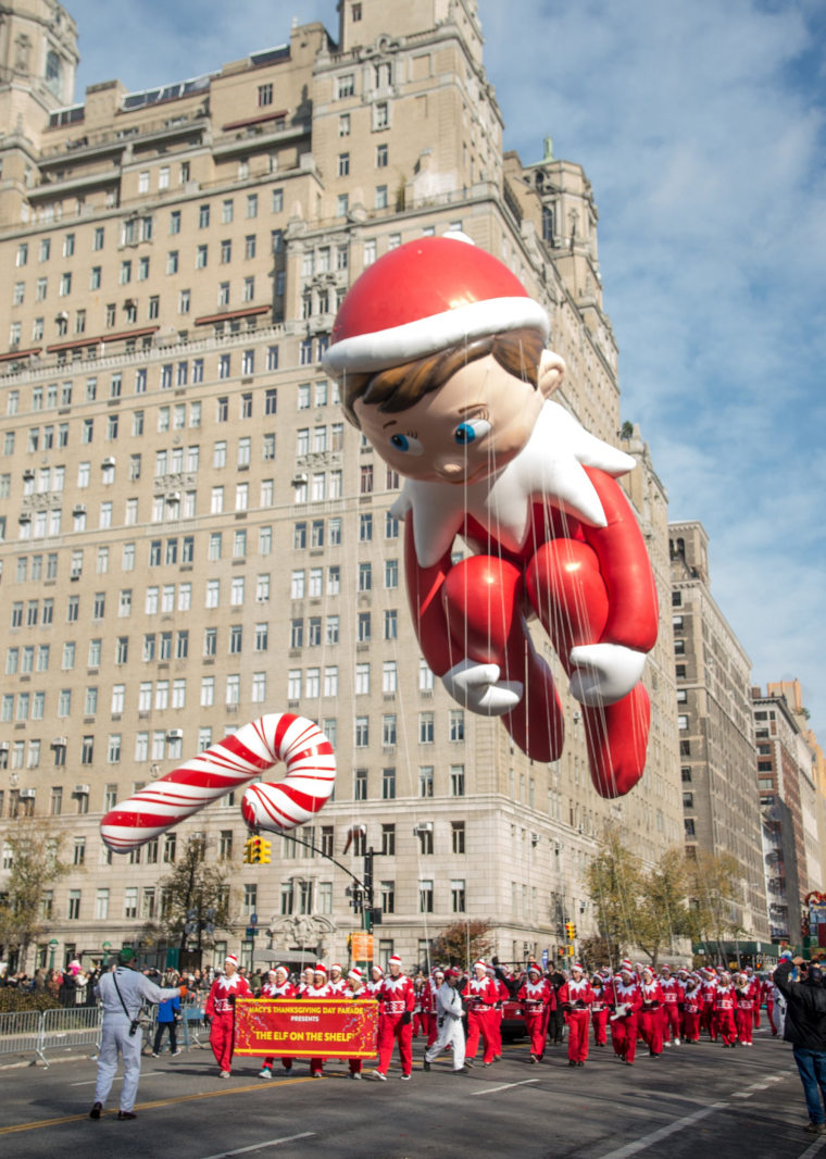 Elf on a shelf 89th Annual Macy's Thanksgiving Day Parade