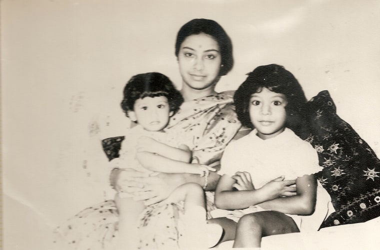 Rinku Sen with her mother and younger sister Chaitali in India.