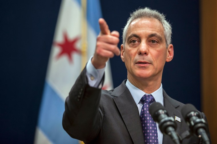 Image: Chicago Mayor Rahm Emanuel speaks at a news conference in Chicago