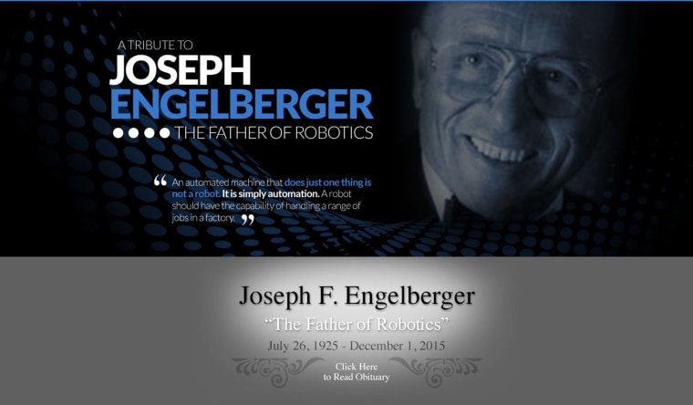A tribute page to Joseph Engelberger on Robotics.org.