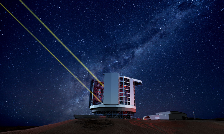 The Giant Magellan Telescope in Chile, seen in an artist's conception, is expected to be complete in 2021.