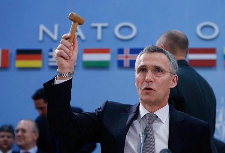 Image: NATO Secretary General Jens Stoltenberg