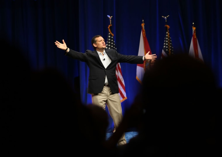 Cruz speaks during the Sunshine Summit conference held at the Rosen Shingle Creek on Nov. 13 in Orlando, Fla.