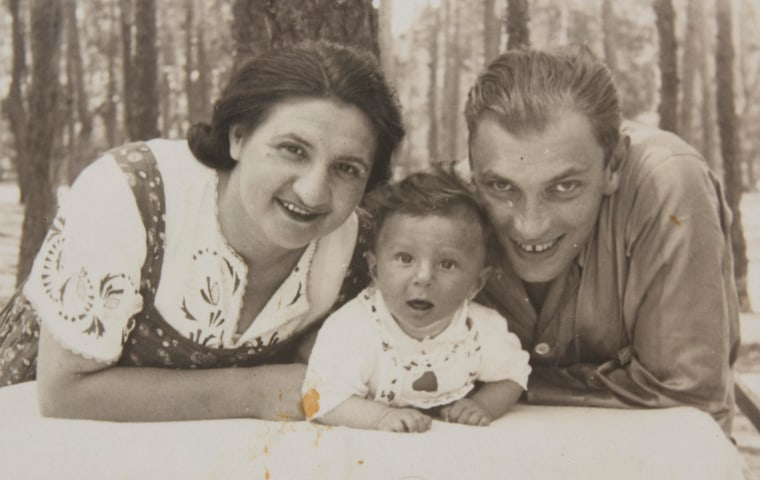 Michael Hochberg with his parents.