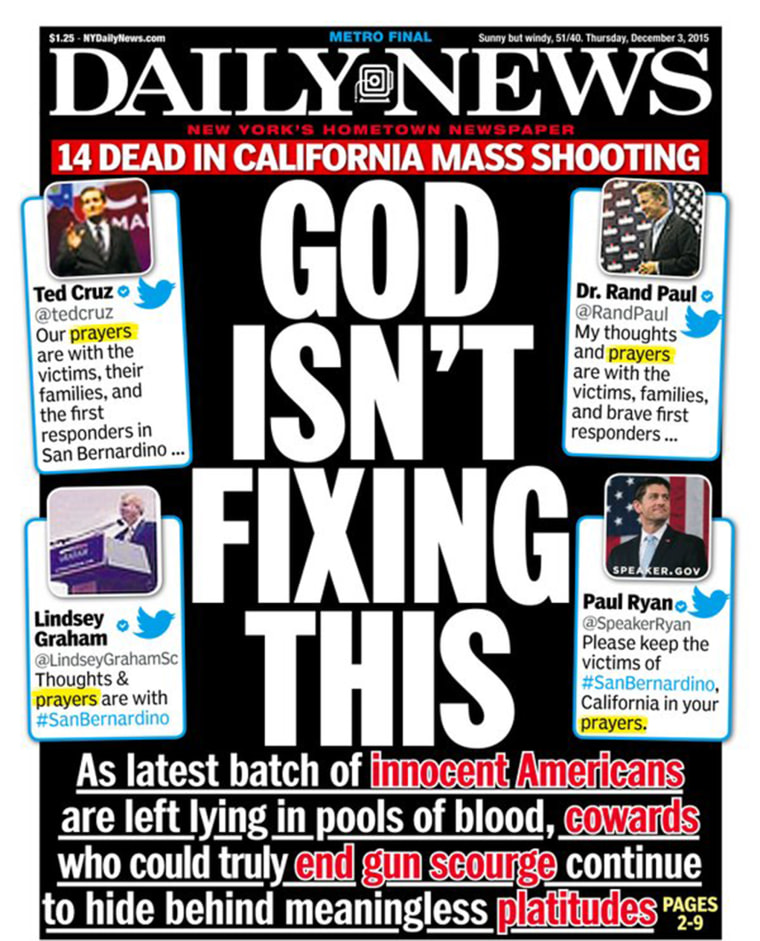 Image: New York Daily News cover